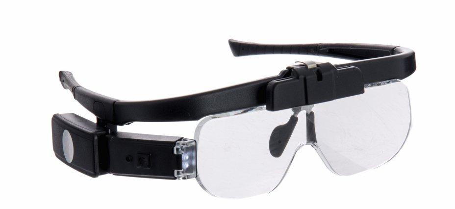 купить Лупа-очки налобная аккумуляторная с подсветкой (2 LED) 11642DC