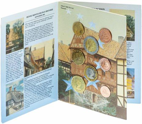 купить Дания набор из 8 монет 2002, в буклете