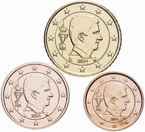 купить Бельгия набор монет 2, 5 и 50 евро центов 2014 (3 штуки) - все номиналы, выпущенные в 2014 году
