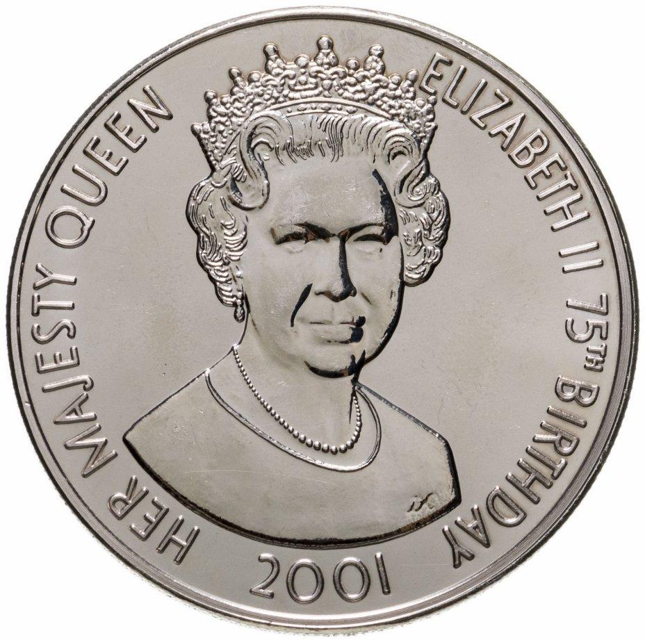 """купить Тристан-да-Кунья 50 пенсов (pence) 2001 """"75 лет королеве Елизавете II"""""""