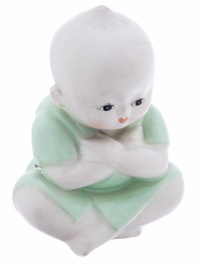 купить Статуэтка «Мальчик в кимоно», фарфор, роспись, Восточная Азия, 1980-2000 гг.