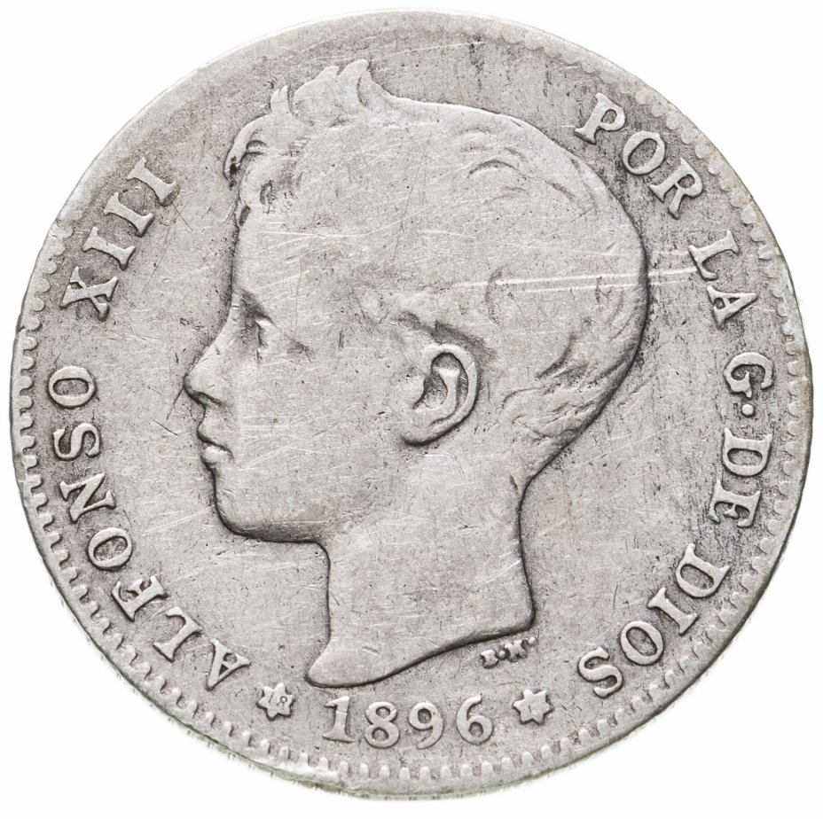 купить Испания 1песета (peseta) 1896