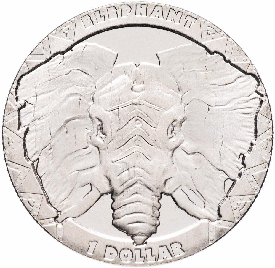 купить Сьерра-Леоне 1 доллар 2019 Слон