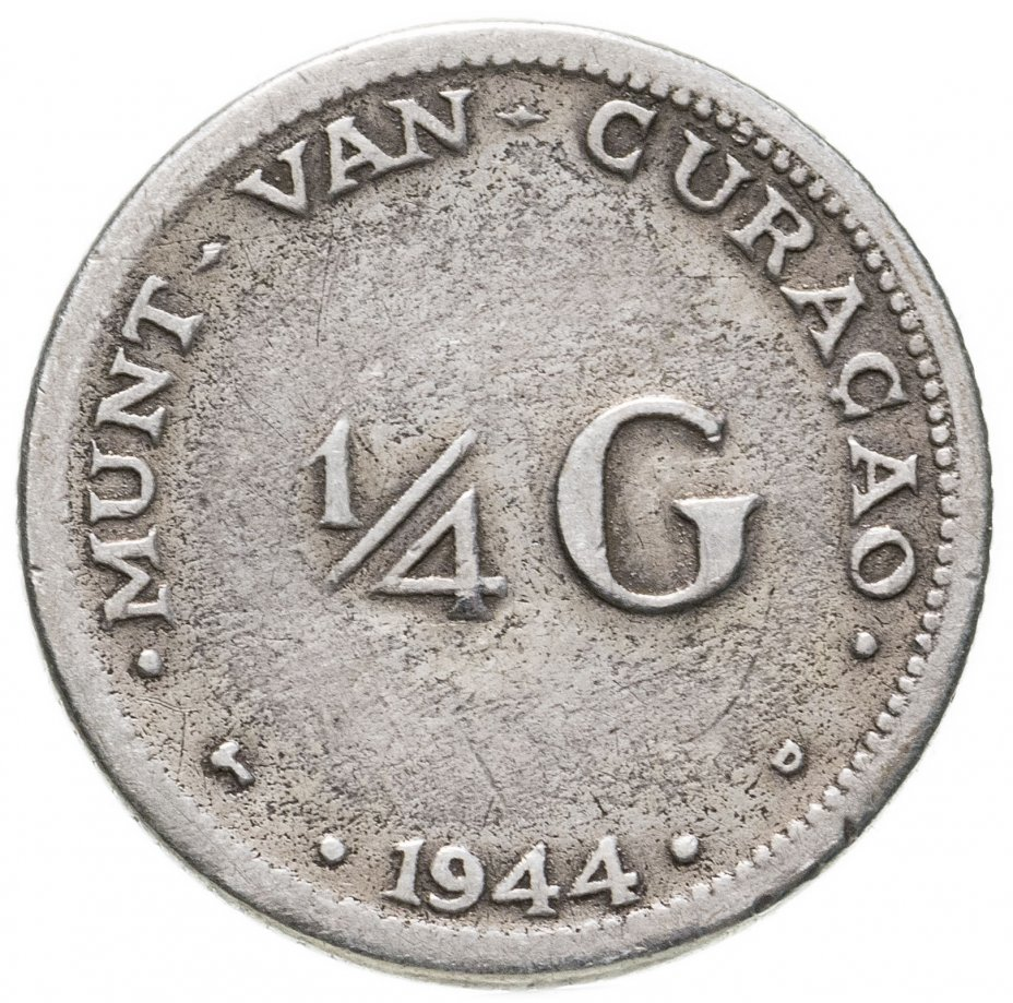 купить Кюрасао 1/4 гульдена (gulden) 1944