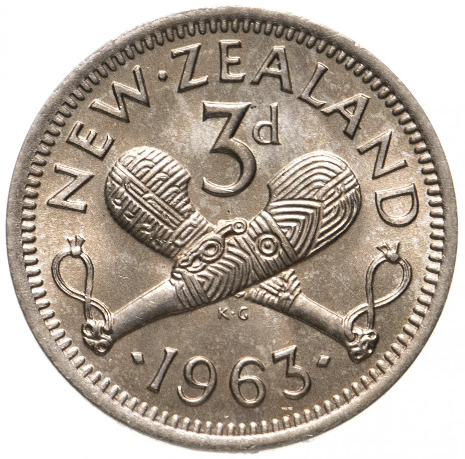 купить Новая Зеландия 3 пенса (pence) 1963
