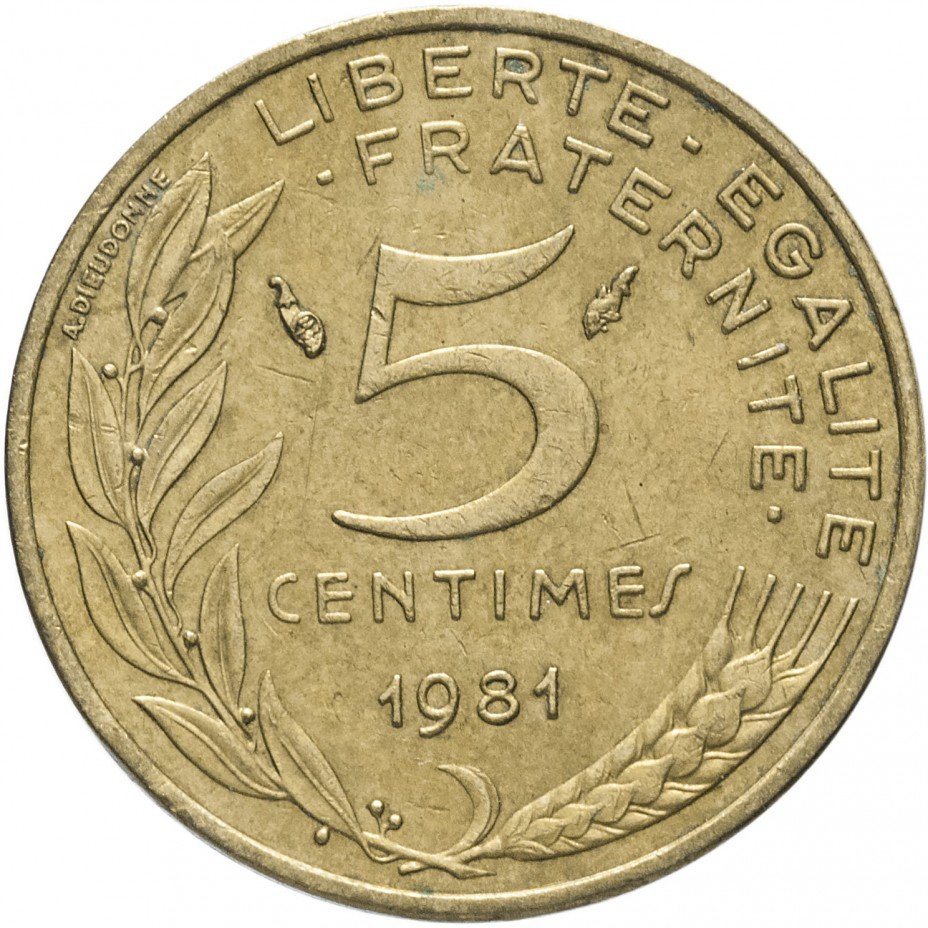 купить Франция 5 сантимов 1981