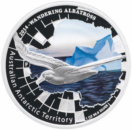 """купить Австралия 1 доллар 2014 """"Австралийская Антарктическая территория - Альбатрос"""" в футляре, с сертификатом"""