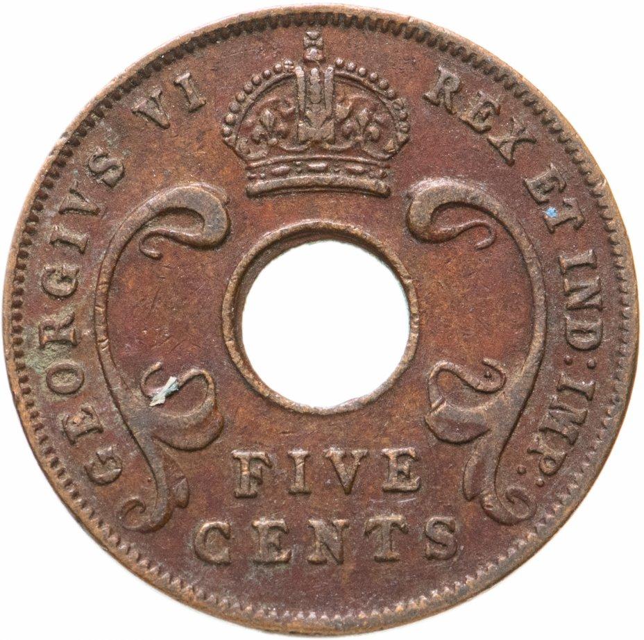 купить Британская Восточная Африка 5 центов (cents) 1943