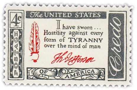 "купить США 4 цента 1960 ""Цитата Томаса Джефферсона """