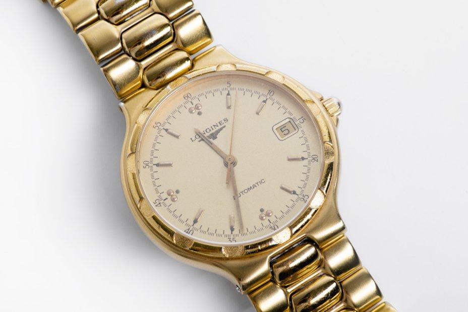 """купить Часы наручные """"Longines Conquest L1.620.2 Automatic"""", сталь, позолота, сапфировое стекло, Longines, Швейцария, 1990-1999 гг."""