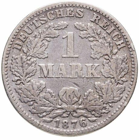 """купить Германия 1 марка 1876 G знак монетного двора: """"G"""" - Карлсруэ"""
