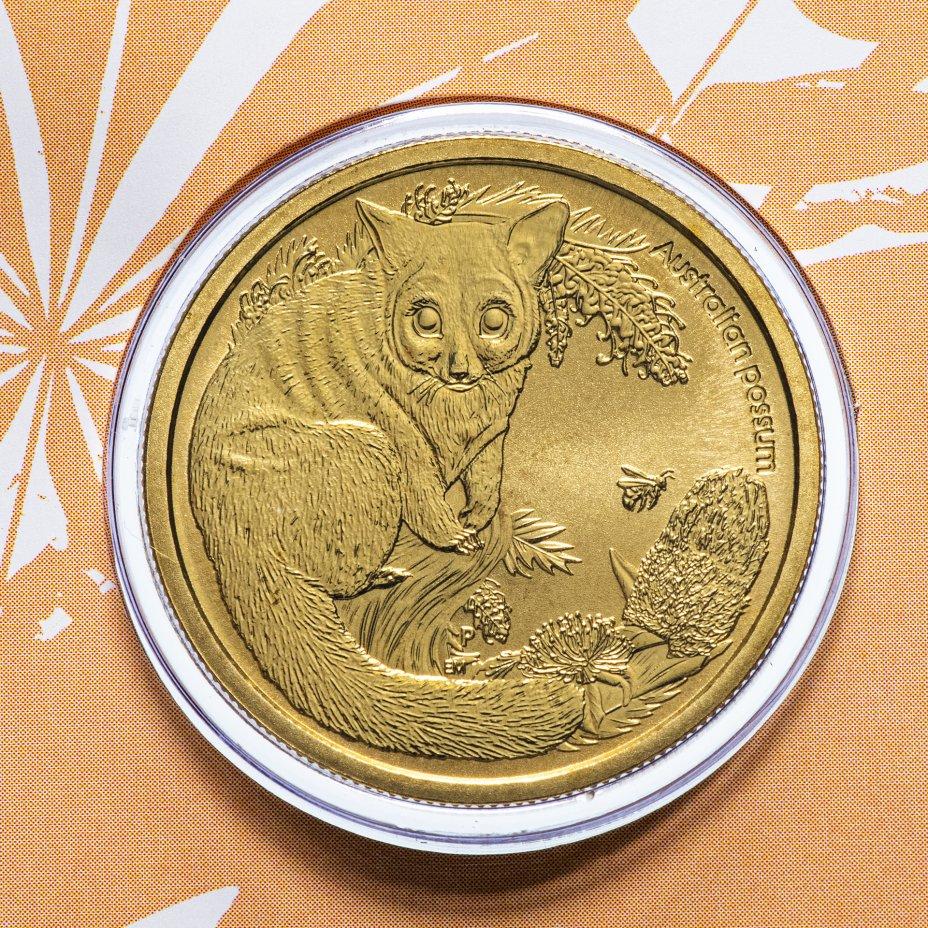 """купить Австралия 1 доллар (dollar) 2013 """"Детёныши диких животных - Поссум"""" (в конверте с маркой)"""