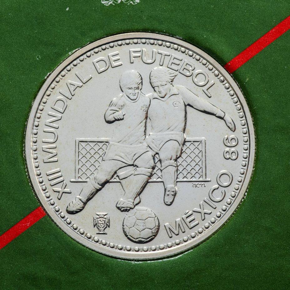 купить Португалия 100 эскудо (escudos) 1986 Чемпионат мира по футболу 1986, Мексика в буклете