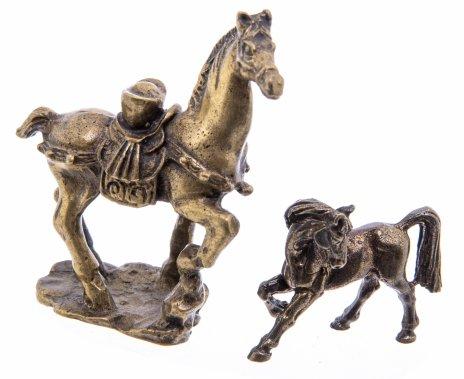 """купить Набор из двух миниатюрных статуэток """"Лошади"""" (в подборе), латунь, Западная Европа, 1970-1990 гг."""