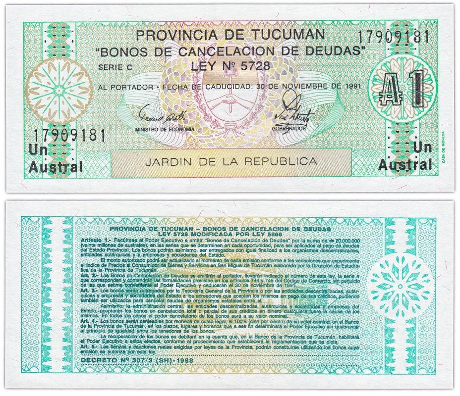 купить Аргентина 1 аустраль 1991