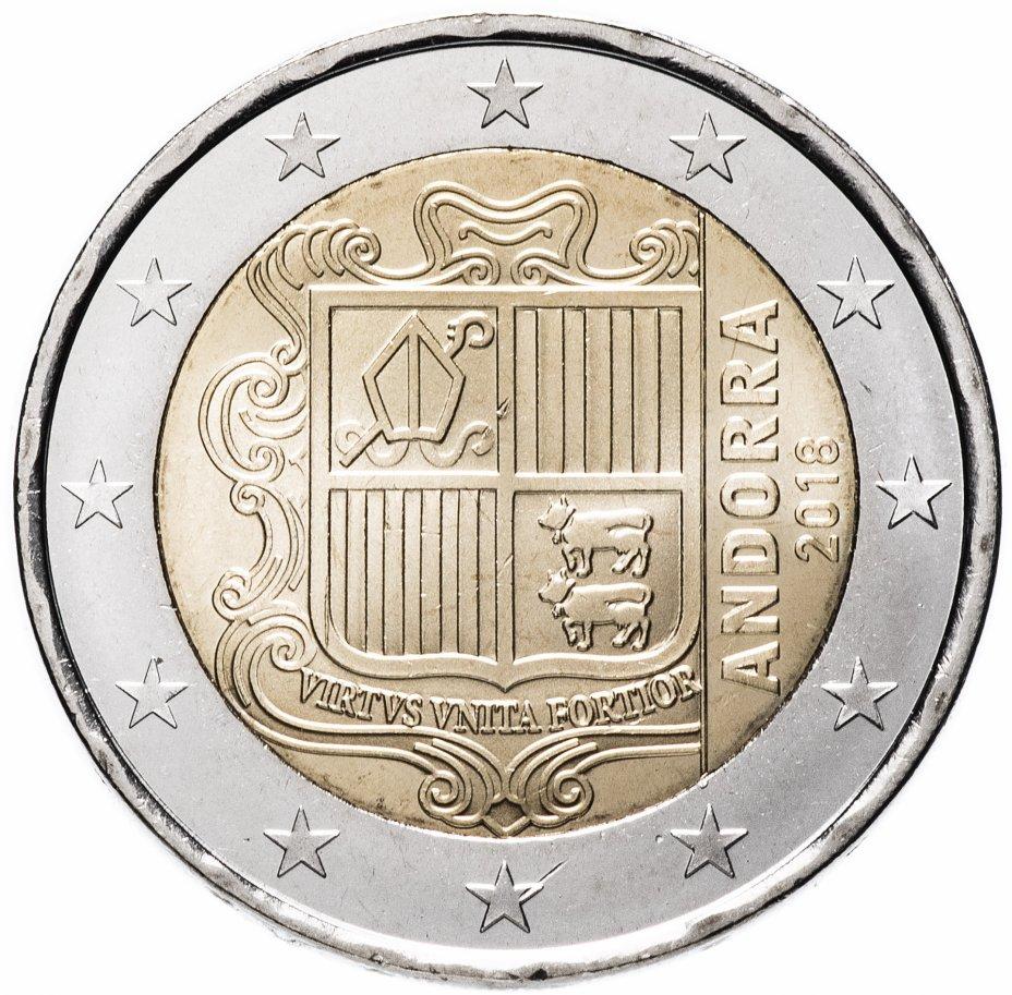 купить Андорра 2 евро 2018 обычная