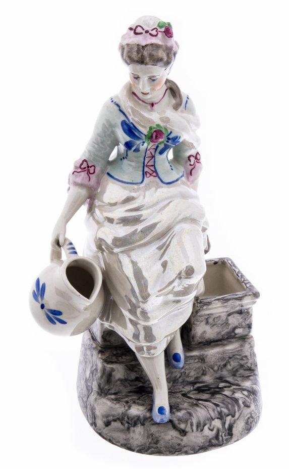"""купить Статуэтка """"Девушка с кувшином"""", фарфор, роспись, люстр, Германия, 1990-2010 гг."""