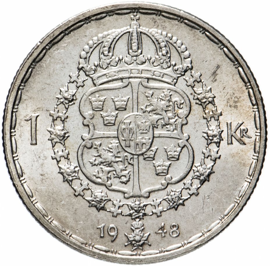 купить Швеция 1 крона (crown) 1948
