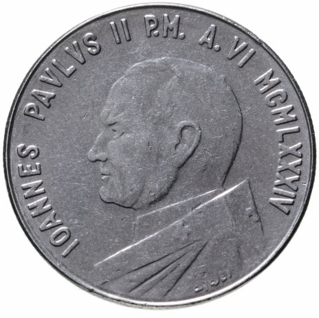 купить Ватикан 100 лир 1984