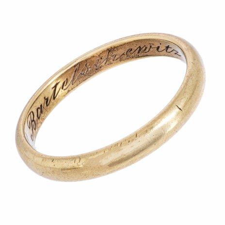 купить Кольцо обручальное с владельческой гравировкой, золото 333 пр., Западная Европа, 1930-1941 гг.