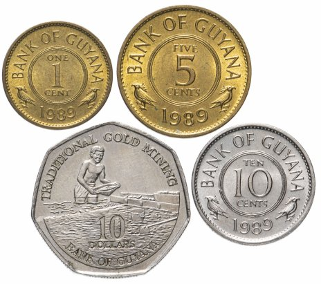 купить Гайана набор из 4-х монет 1989-1996