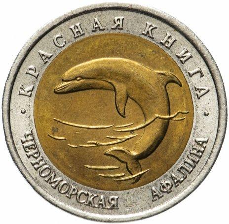 """купить 50 рублей 1993 ЛМД  """"Красная книга - Черноморская афалина"""""""