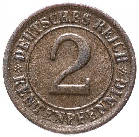 купить Германия 2 пфеннига (рентенпфеннига, rentenpfennig) 1924 - случайный монетный двор