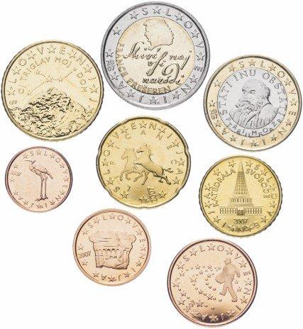 купить Словения набор монет евро 2007 (8 штук)