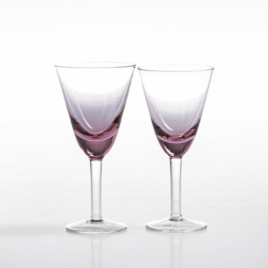 купить Набор из двух рюмок для крепких напитков, цветное стекло, Чехия, 1970-1990 гг.