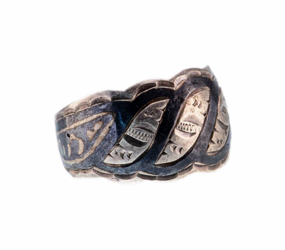 купить Кольцо с орнаментальным рисунком, серебро 875 пр., СССР, 1960-1980 гг.