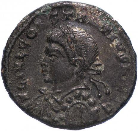 купить Римская Империя Констанций II 324–361 гг фоллис (реверс: крепостная башня с воротами)