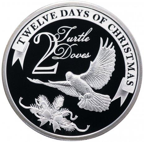 """купить Остров Ниуэ 2 доллара 2009 """"12 дней рождества: день 2-й, горлицы"""""""