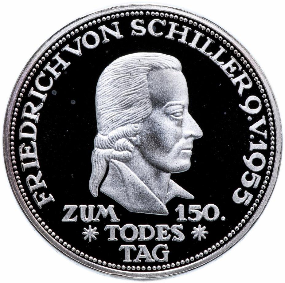 """купить Германия 5 марок 1955 (2003) официальная реплика """"150 лет со дня смерти Фридриха Шиллера"""""""