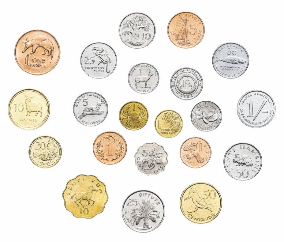"купить Набор монет ""Африка""  (21 монета)"