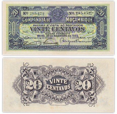 купить Мозамбик 20 центавос 1933 год Pick R29