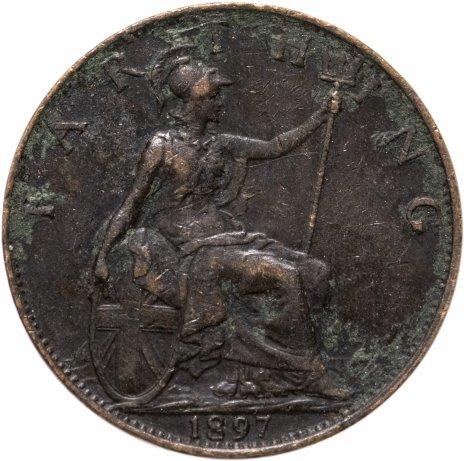 купить Великобритания 1 фартинг (farthing) 1897