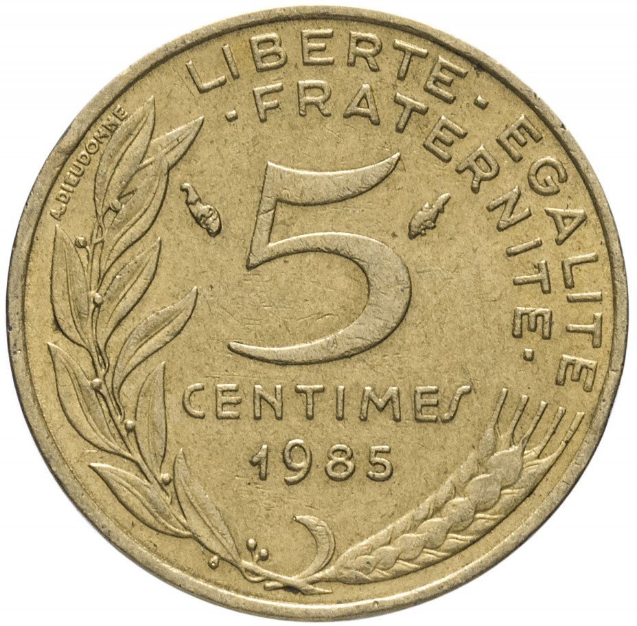 купить Франция 5 сантимов 1985