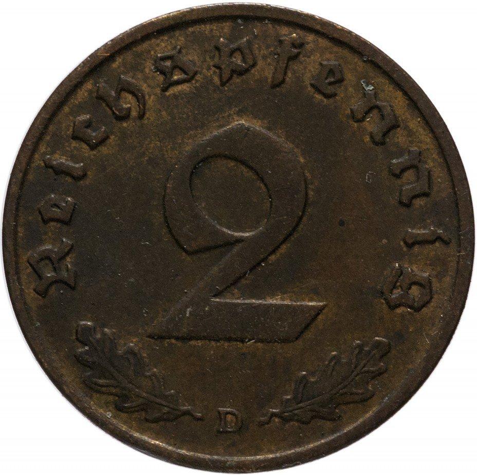 """купить Германия (Третий Рейх) 2 рейх пфеннига 1938 """"D"""""""