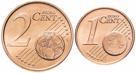 купить Финляндия набор монет 1 и 2 евро цента 2004