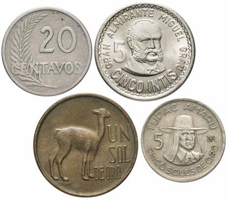 купить Перу набор из 4-х монет 1974-1988