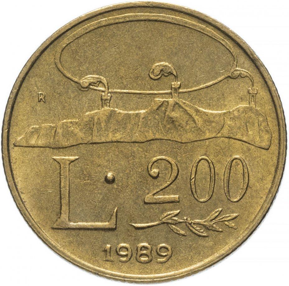 """купить Сан-Марино 200лир (lire) 1989   """"Шестнадцать веков истории"""""""
