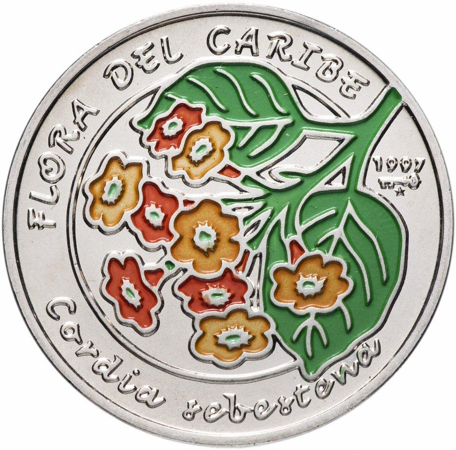 купить Куба 1 песо (peso) 1997 Карибская флора - Кордия Себестена