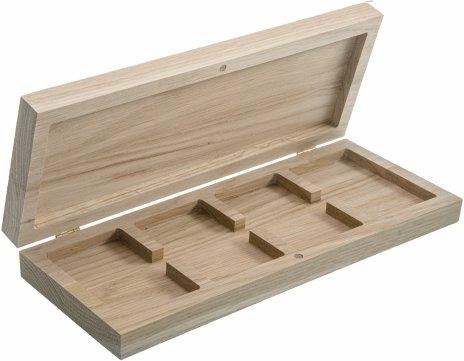 купить Футляр (бокс) деревянный для 4 монет в слабах (NGC, ННР), на магните