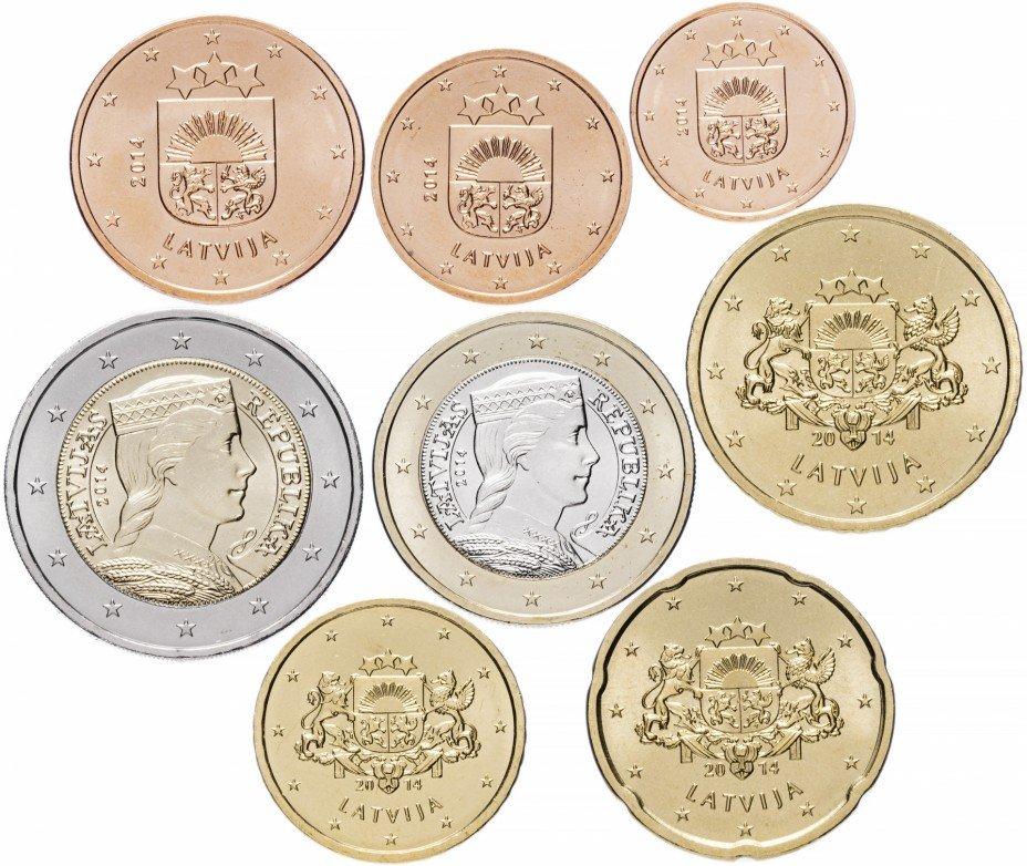 купить Латвия набор монет евро 2014 (8 штук)