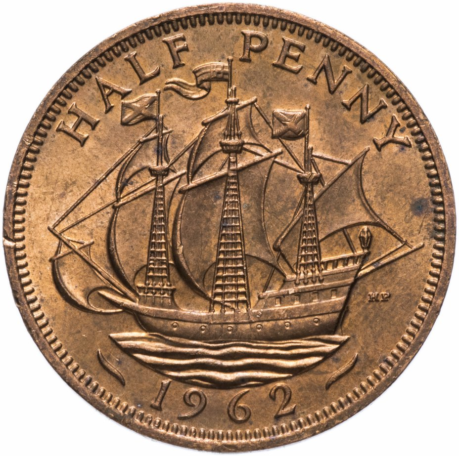 купить Великобритания 1/2 пенни (penny) 1962