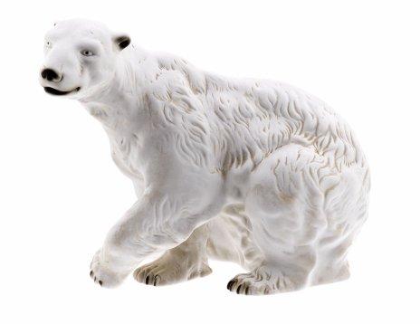 """купить Статуэтка """"Белый медведь"""", бисквит, мануфактура """"Royal Dux"""", Чехия, 1993-2010 гг."""