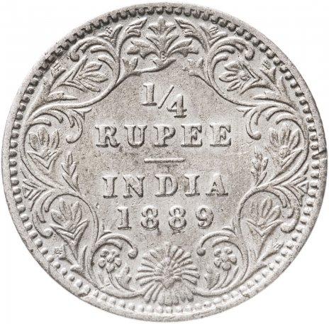купить Британская Индия 1/4 рупии 1889