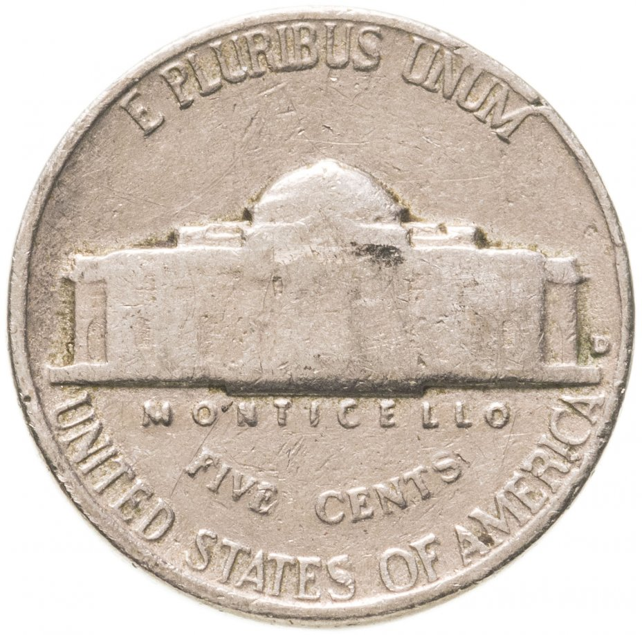 купить США 5 центов (cents) 1950-1969 Jefferson Nickel, случайная дата