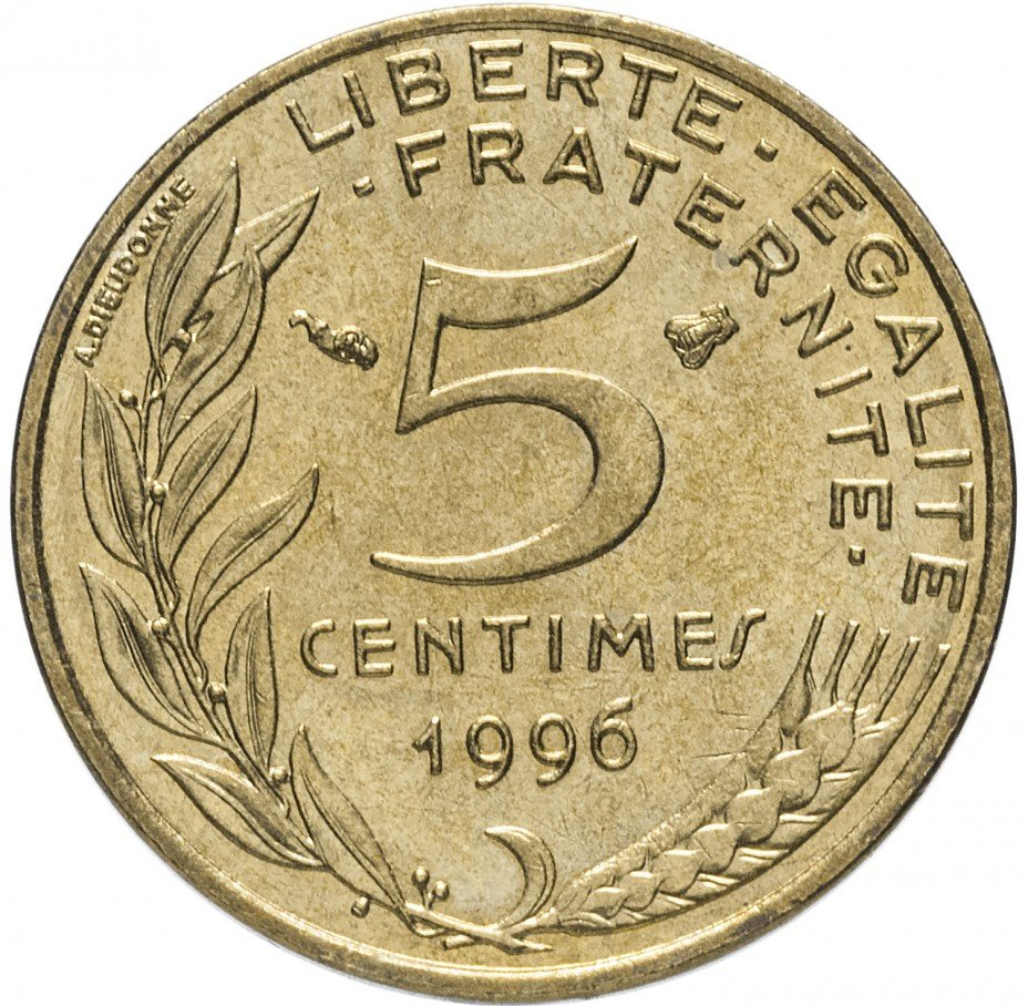 купить Франция 5 сантимов 1996