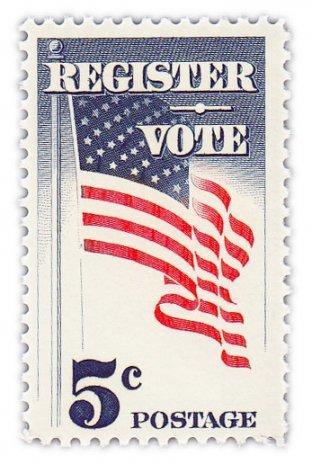 """купить США 5 центов 1964 """"Регистрируйся и голосуй"""""""